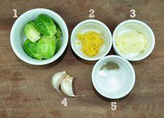 couve de bruxelas douradas na manteiga ingredientes