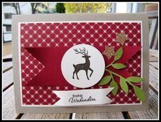 jussis-papierwelt: Weihnachtlich geht es weiter... Stampin up! Weihnachtskarte