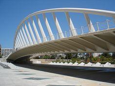 Santiago Calatrava - Alameda Bridge and Underground Station Valencia Spain - 1991-1995