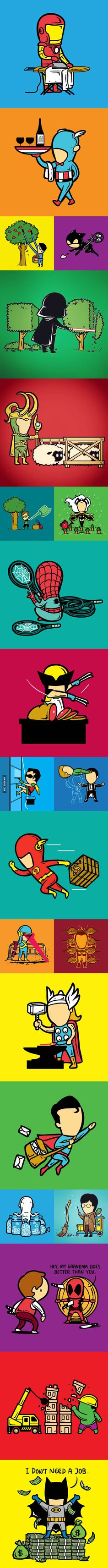 What Would Our Superheroes Do If They Got A Part-time Job? - 9GAG