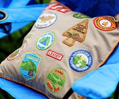 Backyard Camping Birthday Bash: Patchwork Pillow (via Parents.com)