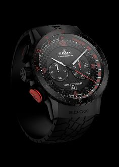 CHRONODAKAR CHRONOGRAPH WATCH BY EDOX The crown is placed on the left side of the case; chronograph pushers are at the labels 8 and 10. The watch water resistant – 100 meters. Chronodakar Chronograph watch comes on a black rubber strap with a stainless steel buckle and the logo of the company Edox. A quartz movement Edox 103. Limited edition to 200 items. http://watch.am/chronodakar-chronograph-watch-by-edox-marks-the-dakar-rally-12537/