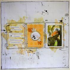 #papercraft #scrapbook #layout. Invitée Just Create : semaine 4 Bêtises à gogo !