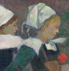 Paul Gauguin -  Breton Girls Dancing (detail), 1888