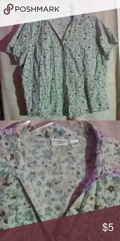 Cato Woman Button Down Top 100% cotton size 18/20W Cato Tops Button Down Shirts