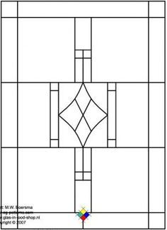 rectangles stained glass printable pattern - Google Search