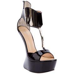 GIUSEPPE ZANOTTI patent leather sandal via Polyvore