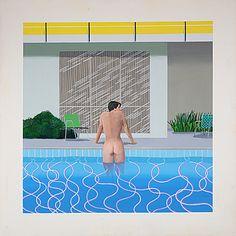Peter sortant de la piscine de Nick, 1966, David Hockney