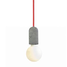 Concrete Socket Red Cord, 65€, now featured on Fab.