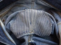 Iconic Denim Piece: Levi's 1947 501XX - repaired in the crotch