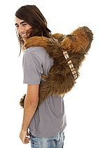 Chewy - get off a my back! Star Wars Chewbacca Plush Backpackn $44.50.  Hot Topic.