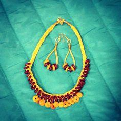 Wooden jewelry #littlewildthings #handmadejewelry #soumyaprakash #handmadenecklace #necklaceset