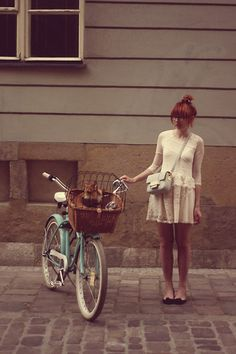 Kasia Cieślik - H&M Lace Dress, H&M Bag - Old Blossom And A Newborn Flow Sings In My Head, What A Love