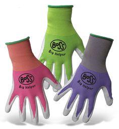 Boss Men/'s Indoor//Outdoor Split Cowhide Leather Palm Work Gloves Assorted L