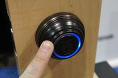 Hands-on with Kwikset and UniKey's Kevo keyless entry system: The Kevo uses Bluetooth 4.0 to identify you before unlocking your door, just with a touch. Unlike Lockitron, which can allow users to remotely lock and unlock their door, Kevo doesn't support that function but rather focuses on proximity and convenience. Kevo users never have to reach in their pocket or wallet. The company has a partnership with Kwikset.: