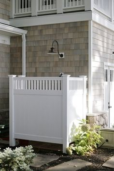 outdoor shower...for when I have a beach house one day =)