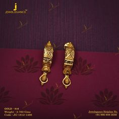 Get In Touch With us on Gold Jhumka Earrings, Jewelry Design Earrings, Gold Earrings Designs, Gold Jewellery Design, Designer Earrings, Gold Jewelry, Jewelery, Fashion Jewellery, Gold Fashion