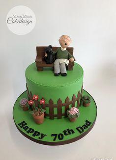 Birthday Cake For Him, Themed Birthday Cakes, Themed Cakes, 40th Birthday, Birthday Ideas, Garden Theme Cake, Garden Theme Birthday, Garden Cakes, Nature Cake