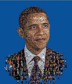 Re-Elect President Obama President Obama portrait made for Huffington magazine.