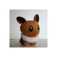 "Pokemon Plush Toy Eevee 5"" Cute Soft Stuffed Animal Doll ❤ liked on Polyvore"