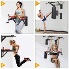OneTwoFit Multifunctional Wall Mounted Pull Up Bar Power Tower Set Chin Up Station Home Gym Workout Strength Training Equipment Fitness Dip Stand Supports to 330 Lbs 2 country running marathons training World tips running equipment accessories Home Made Gym, Diy Home Gym, Gym Room At Home, Home Gym Decor, Tanzstudio Design, Home Gym Design, Power Tower, Home Gym Equipment, No Equipment Workout