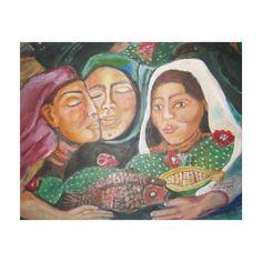 Village Women by Ruth Olivar Millan Gallery Wrapped Canvas #zazzle #village #women #wrapped #canvasprints