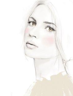 Fashion illustration for Harper's Bazaar Magazine; stylish fashion drawing // Elisa Mazzone