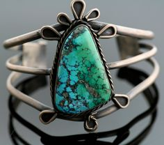 Vintage Cuff |  Designer? ( Navajo ).   Sterling Silver and Turquoise