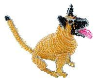 mini beaded dog - mini beaded animals