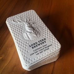 3D business card with letterpress. #jukeboxprint