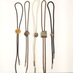 Vintage Bolo Tie Set of 5 by UniqueVintageChicago on Etsy