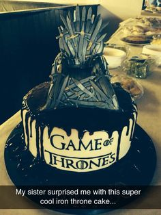 Game of Thrones Cake is Coming Gaming Cake and Sweet cakes