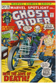 Marvel Spotlight #10 VF/NM, Ghost Rider, Herb Trimpe cover art. $62