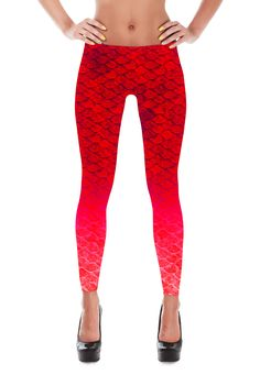 Dragon scale leggings. Shiny, durable and hot. These polyester/spandex leggings will never lose their stretch and provide that support and comfort you love in unique designs. Made of polyester/spandex