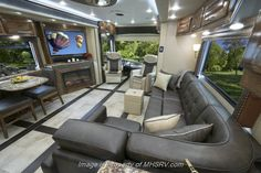 New 2016 Foretravel Realm Luxury Villa 3 Bath & For Sale by Motor Home Specialist available in Alvarado, Texas Rv Interior, Motorhome Interior, Interior Design, Luxury Motorhomes, Motorhomes For Sale, Luxury Rv Living, Rv Homes, Motor Homes, Rv Trailers