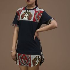 Unisex Afrination Ankara Longline T-Shirt - Afrination By Kofi Jr. African Fashion Designers, African Fashion Ankara, Latest African Fashion Dresses, African Print Fashion, Africa Fashion, African American Fashion, Short African Dresses, African Print Dresses, Short Dresses