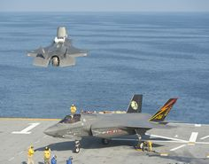 ATLANTIC OCEAN (Aug. 14, 2013) An F-35B Lightning II aircraft takes off from the amphibious assault ship USS Wasp (LHD 1) during the second at-sea F-35 developmental test event.