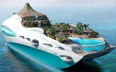 Earth Pics: Tropical Island Yacht Cruise Ship from the U.K.  damnnnnn