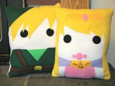 Zelda Legend of Zelda plush pillow throw pillow by telahmarie, $30.00