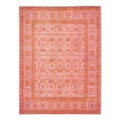 Vibrant coral and berry hues highlight the exotic motifs in this one-of-a-kind…