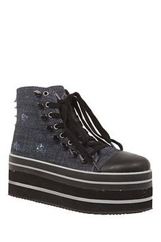 Click Image Above To Purchase: Studded Canvas Platform Sneakers Wedge Sneakers, Platform Sneakers, High Top Sneakers, Rebel Fashion, Women's Fashion, Vans Sk8, Dress Me Up, Converse Chuck Taylor, Wedges