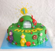 Astounding 8 Best Teletubbies Cake Ideas Images Teletubbies Cake Cake Birthday Cards Printable Nowaargucafe Filternl