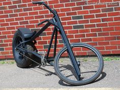 The Vigilante Stealth Bomber Style Chopper Rat Rod Build, Lowrider Bicycle, Stealth Bomber, Power Bike, Chopper Bike, Pedal Cars, Electric Bicycle, Mini Bike, Bicycle Design
