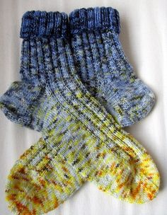 Blue/Yellow socks