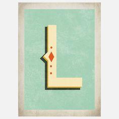 typography monogram for Lance's office #monogram #typography