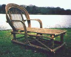 Chaise lounge made from bent willow branches