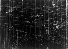 Particle Tracks On Film from the Fermilab Bubble Chamber.