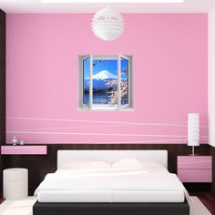 Wall decals landscape - Wall decal landscape with mount Fuji | Ambiance-live.com