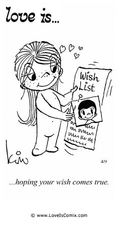 Love+Is+Daily+Comic+Strip | Love Is... hoping your wish comes true.