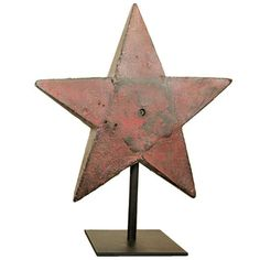 Halladay H37 Star Red Windmill Weight | From a unique collection of antique and modern industrial furniture at https://www.1stdibs.com/furniture/more-furniture-collectibles/industrial-furniture/
